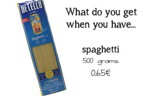 spaghetti 500 grams