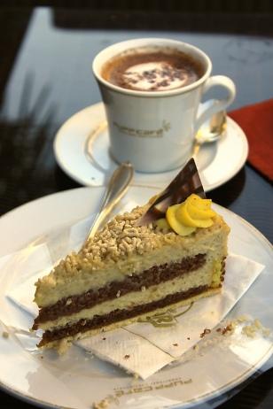 Chestnut mousse chocolate cake