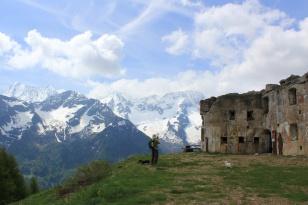 Forte Saccarana - view of La Presanella