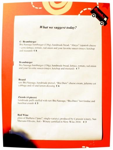 Brambù menu