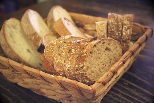 Bread basket @ Grotto Monte Creda