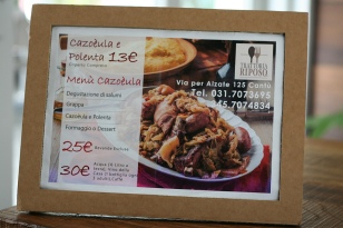 13€ for a plate of cazoeùla and polenta - deal!