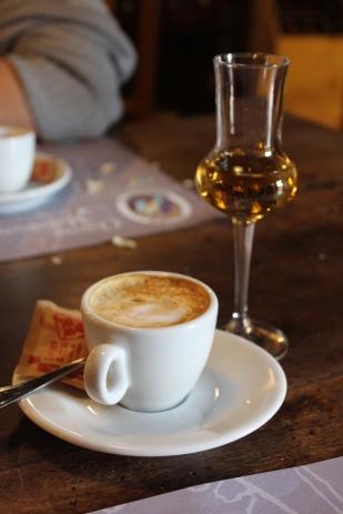 Obligatory coffe and grappa