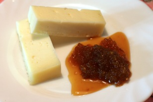 Asiago with onion compote