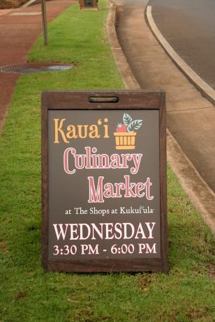Kauai Culinary market sign