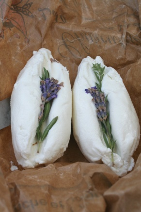 Chevre with lavender